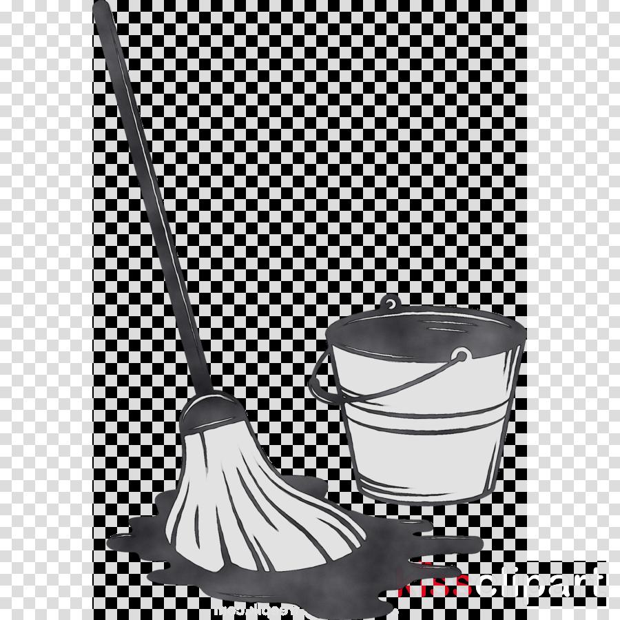 Kitchen Cartoon Clipart Mop Cleaning Transparent Clip Art