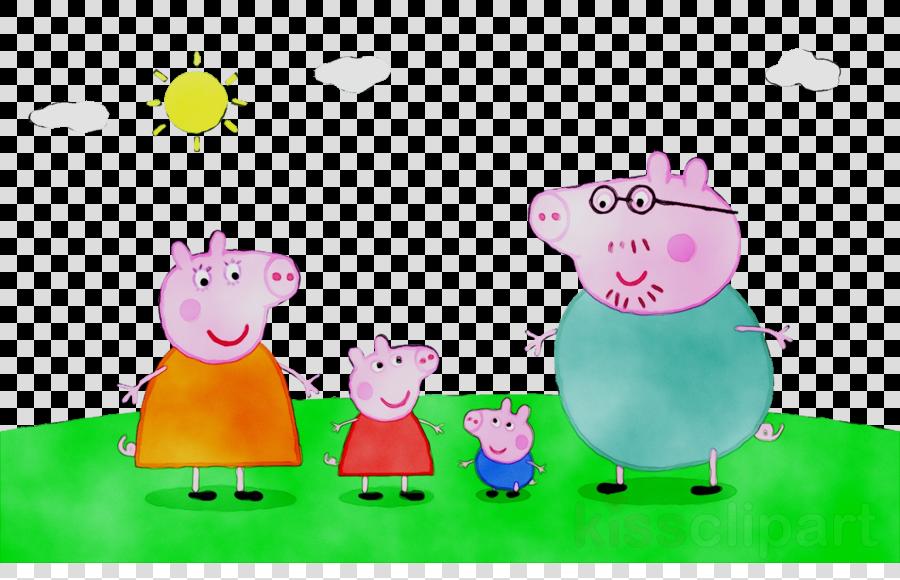 Pig Cartoon clipart - Pig, Cartoon, Drawing, transparent