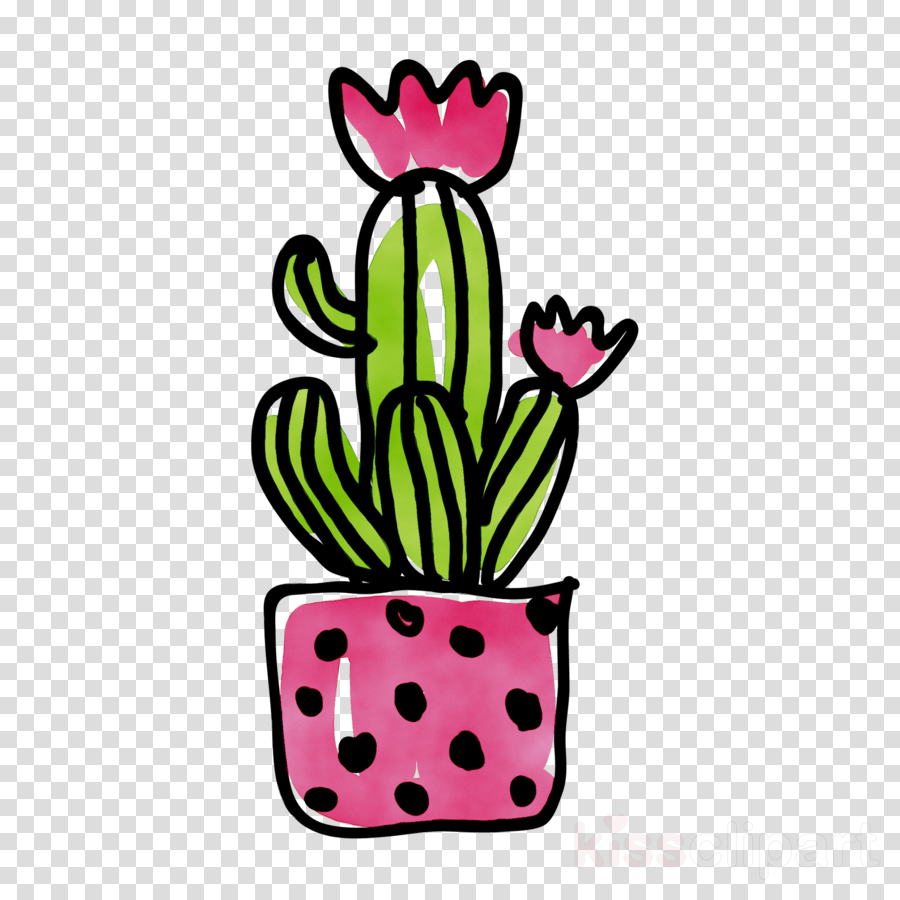 Flower clipart flower cactus clip art
