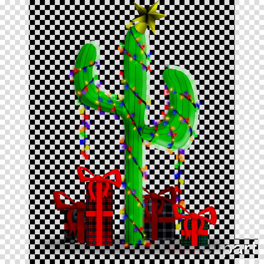 Christmas Cactus Clipart.Christmas Tree Illustration Clipart Cactus Plant Tree
