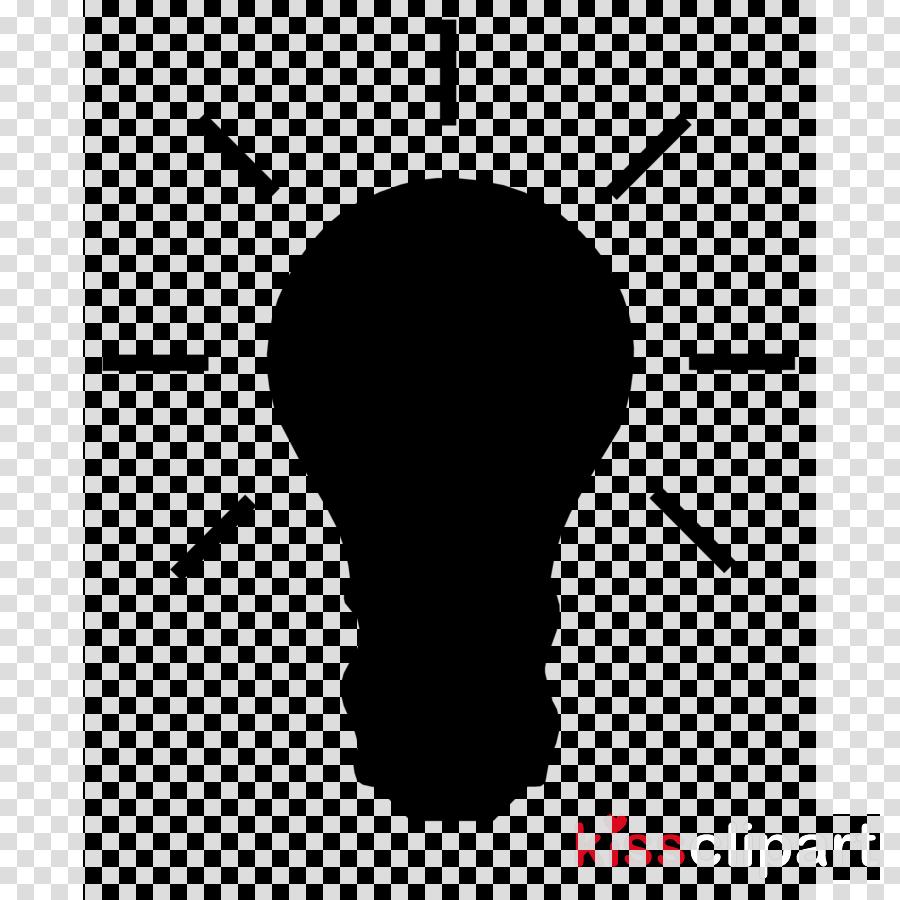 Light bulb silhouette. Cartoontransparent png image clipart