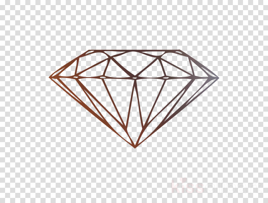 Diamond gold. Triangle clipart line transparent