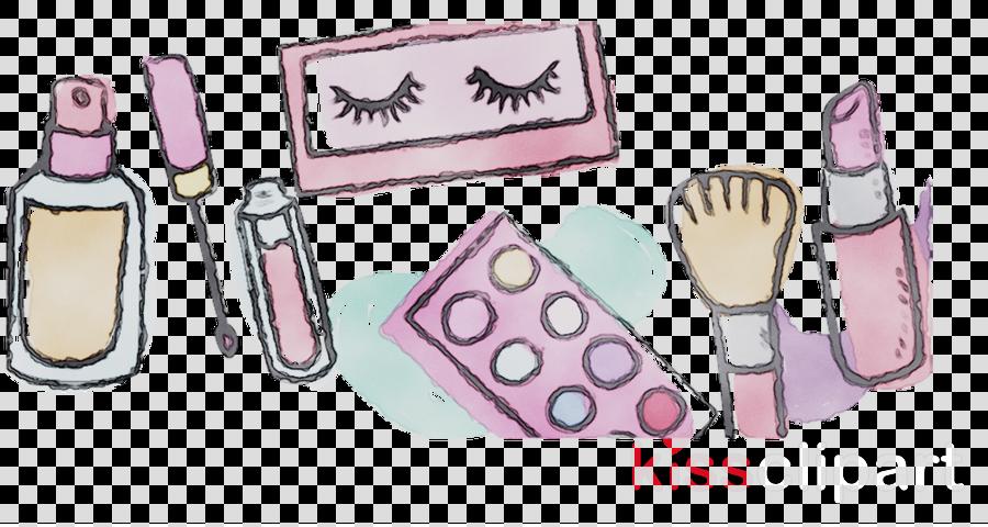 Makeup Cartoon Clipart Cosmetics Pink Product Transparent Clip Art