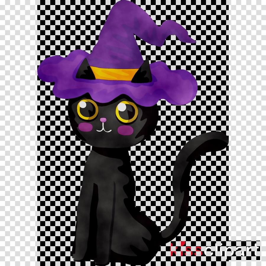 Cat Purple Cartoon Transparent Png Image Clipart Free Download