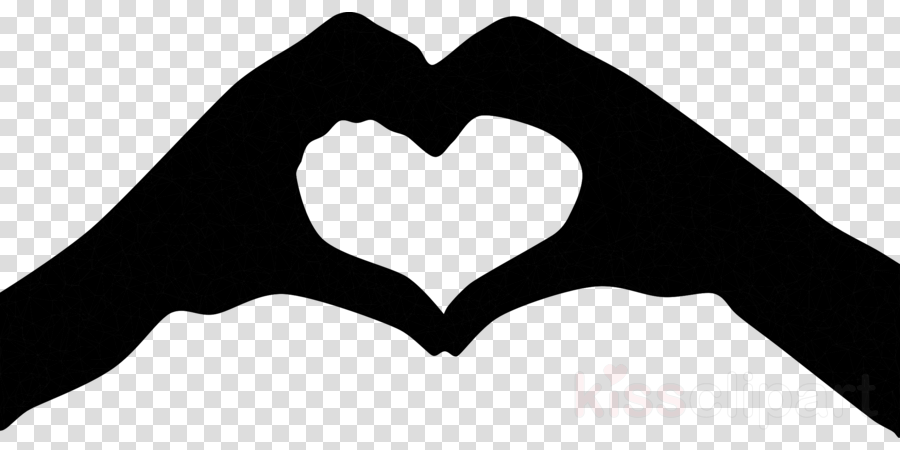 Heart silhouette. Love background clipart illustration