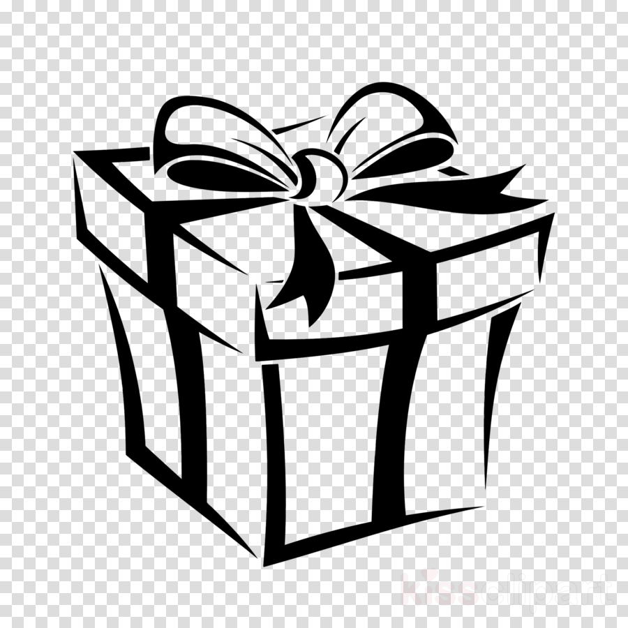 Gift Box Ribbon Clipart Black Present Ribbon Transparent Clip Art
