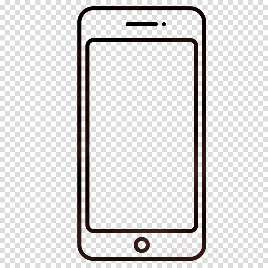 Phone outline. Download mobile clipart samsung