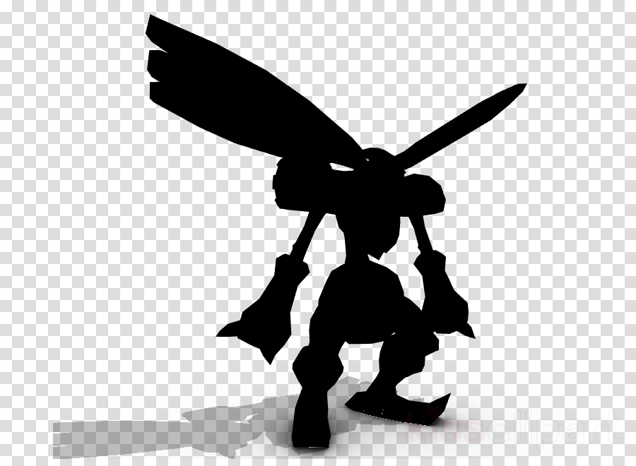 Black, Silhouette, Wing, transparent png image & clipart