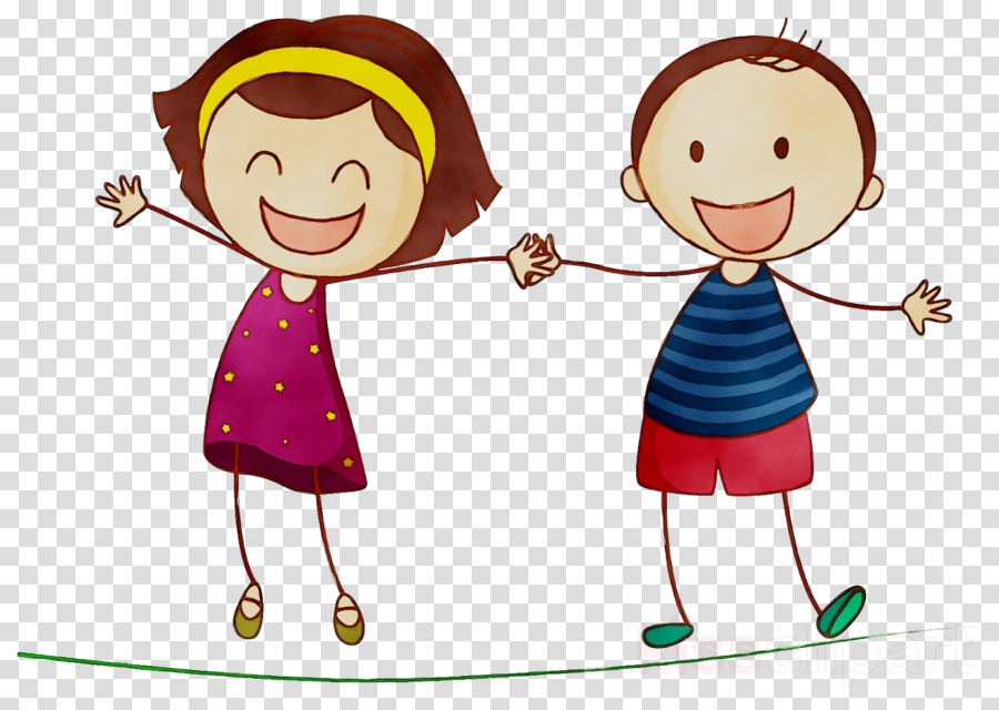 Download Cartoon Girl And Boy Best Friends Clipart Boy
