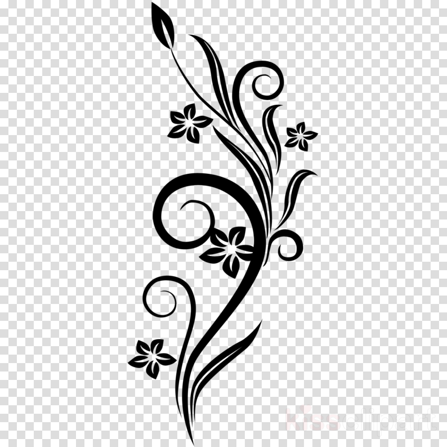 Floral Pattern Background Clipart Flower Design Drawing