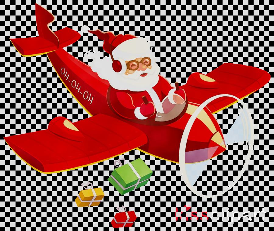 santa clause plane clipart Santa Claus Airplane Clip art