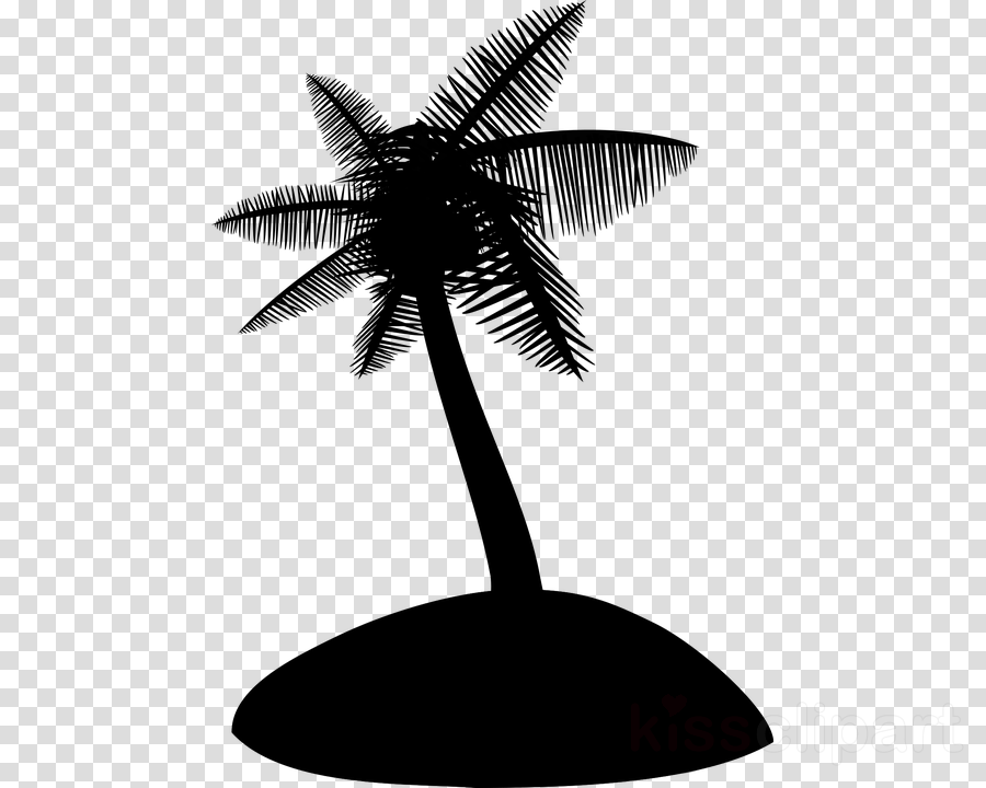 Coconut Tree Black Transparent Png Image Clipart Free Download