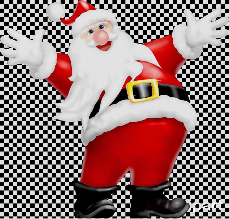 pere noel content clipart Santa Claus Mrs. Claus