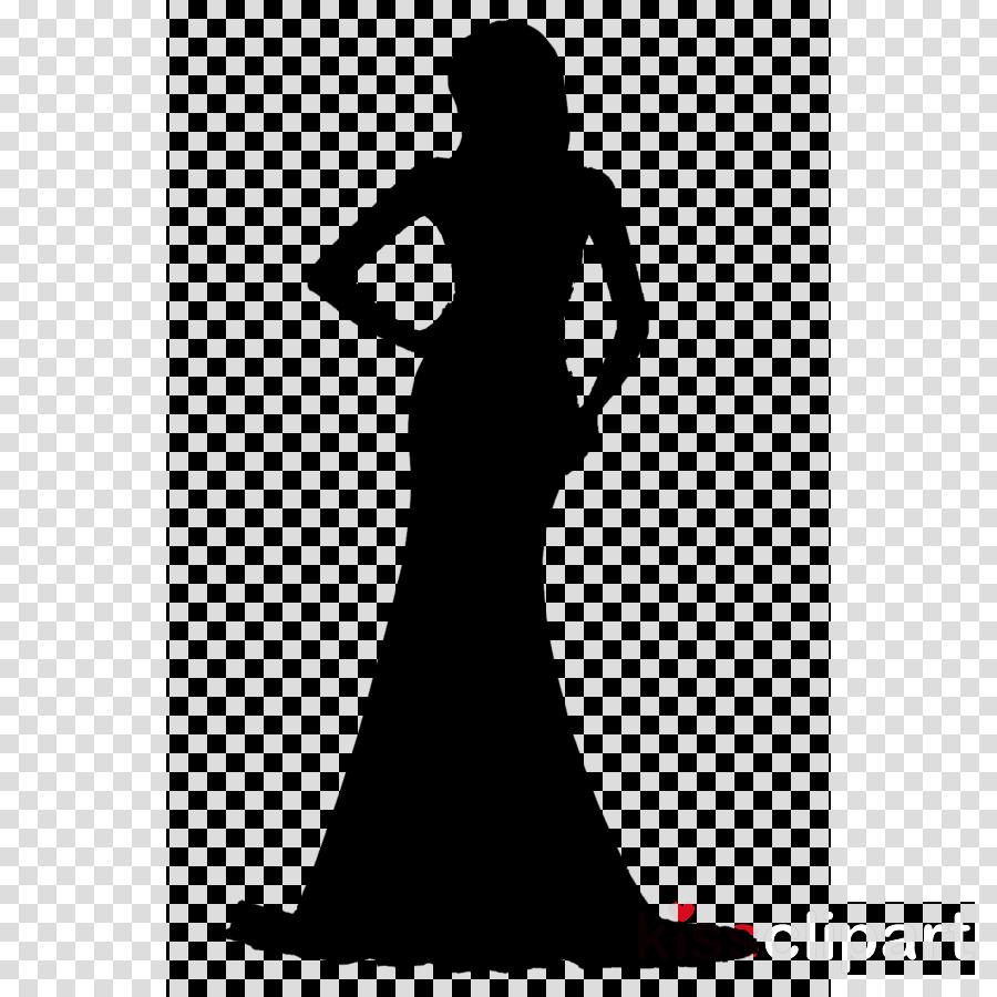 Woman Clipart Gown Black White M Clip Art Clipart Silhouette Dress Clothing Transparent Clip Art