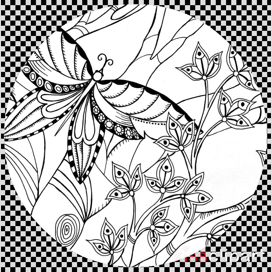 Floral Design Black White M Leaf Transparent Png Image Clipart