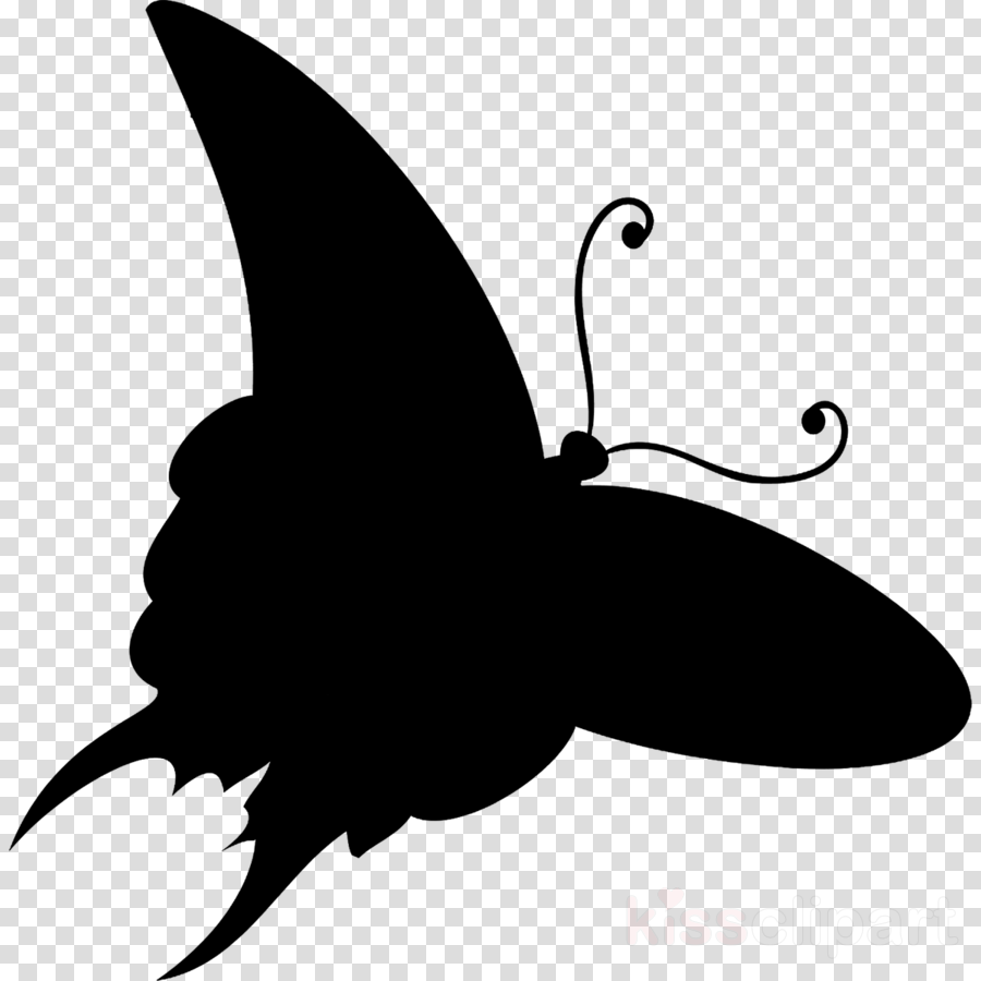 Butterfly M 0d Black White M transparent png image & clipart free