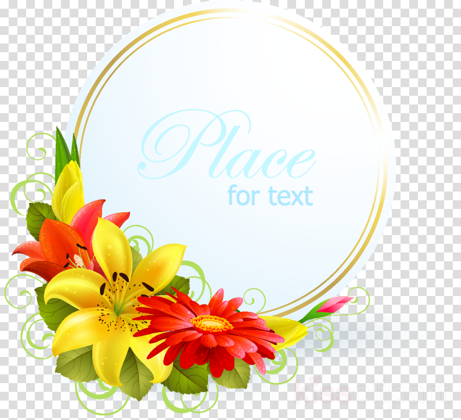 Floral Wedding Invitation Background Clipart Nature