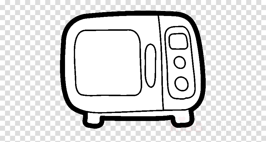 Microwave Ovens Drawing Coloring book Kitchen