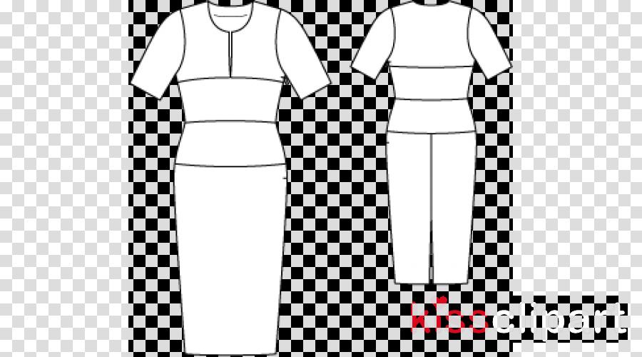 /m/02csf Black & White - M Sleeve Collar Dress