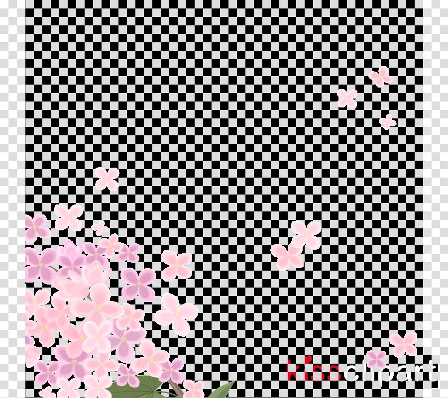 Flower Pink Image Blue Illustration