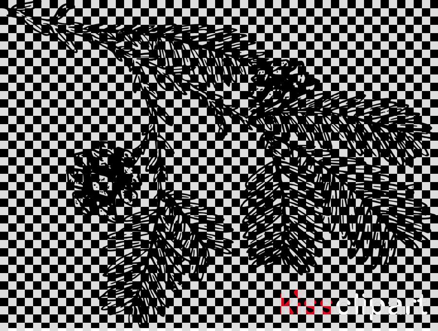 Black & White - M Font Line art Pattern