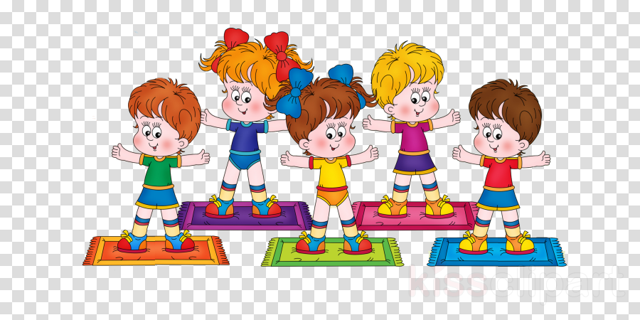 Kids Playing Cartoon Clipart Exercise Child Health Transparent Clip Art