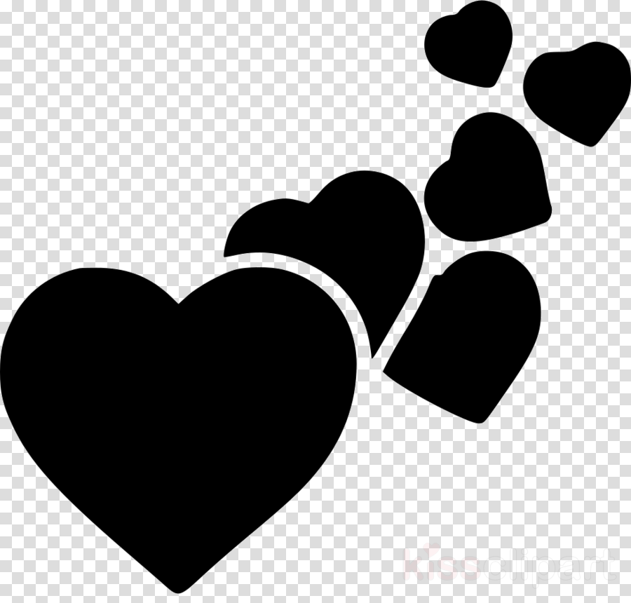 Black Heart Emoji Clipart Objects Transparent Clip Art