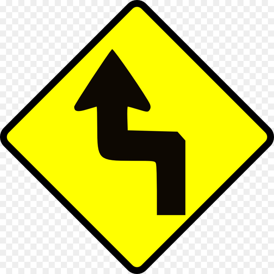 road curves left then right sign clipart Traffic sign Warning sign