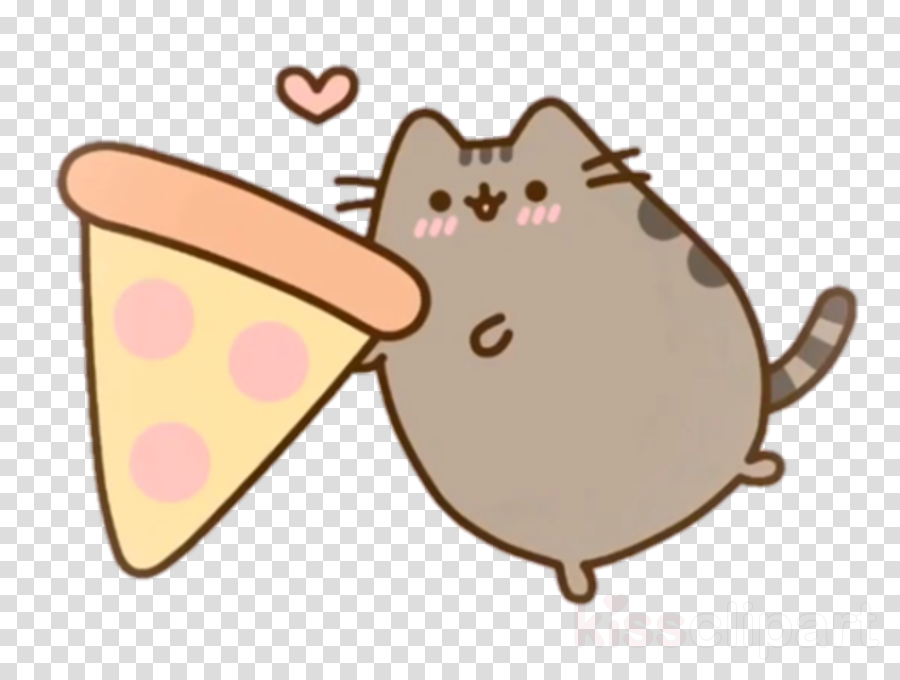 Gund Pusheen Plush Cat Drawing Pizza
