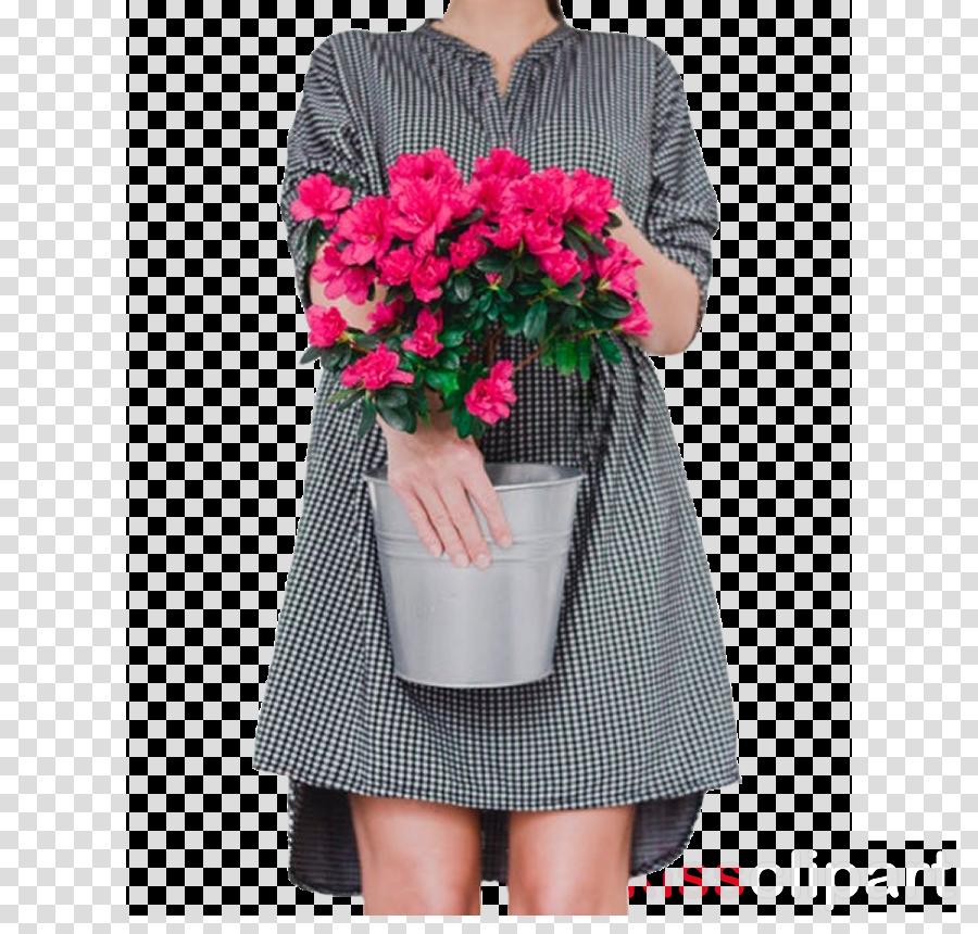 Dress Pink flowers Rose Flower bouquet