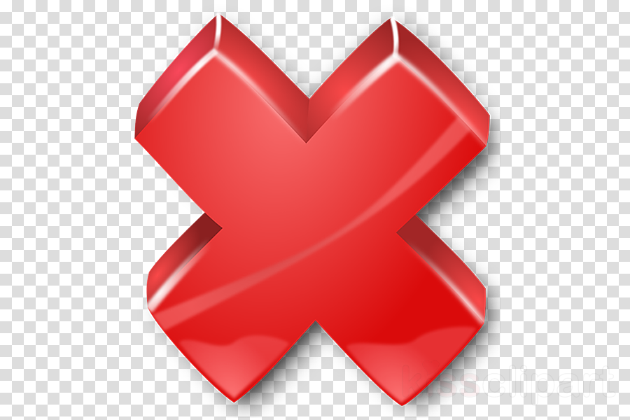 Check Mark, X Mark, Cross, transparent png image & clipart