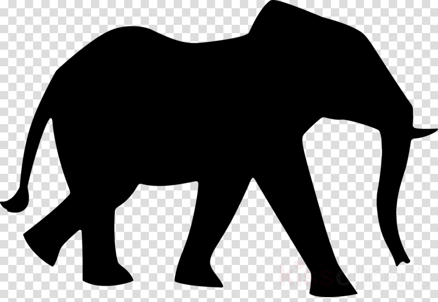 Elephant African Elephant Silhouette Transparent Png