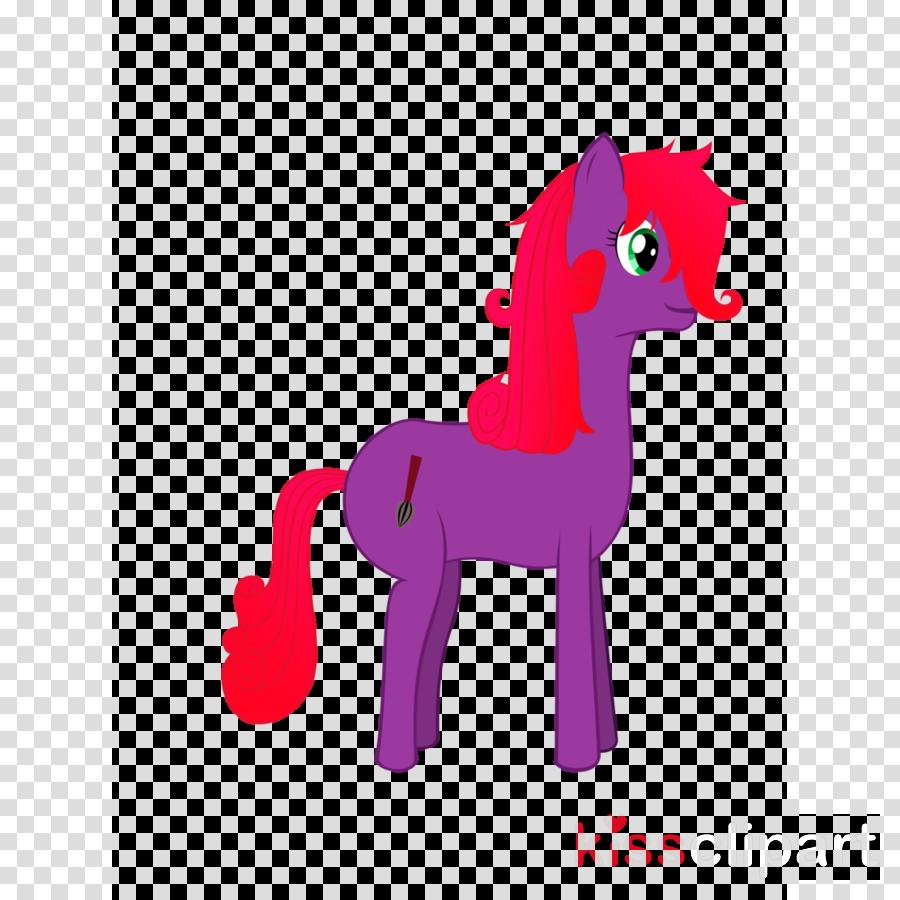 Horse Illustration Clip art Carnivores Pink M