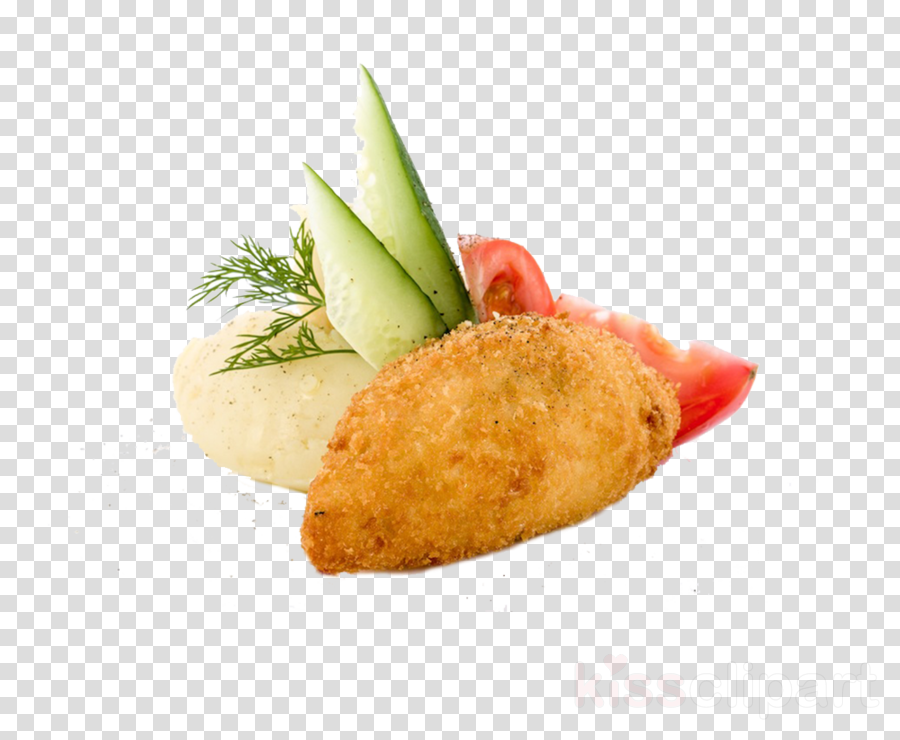 Chicken nugget Chicken Kiev Cutlet Garnish Mashed potato