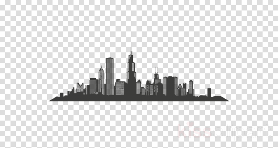 Chicago Skyline Vector graphics Silhouette Illustration