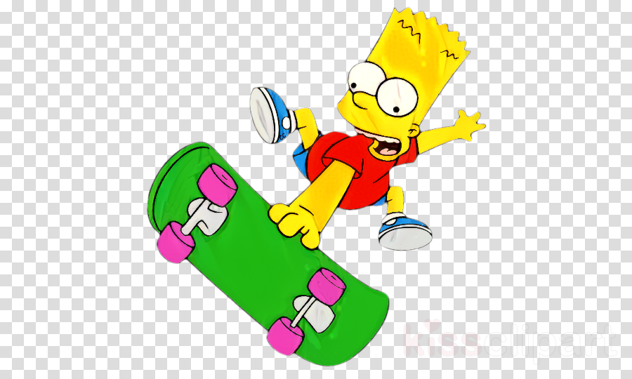 Bart Simpson Clip art Homer Simpson The Simpsons Skateboarding Lisa Simpson