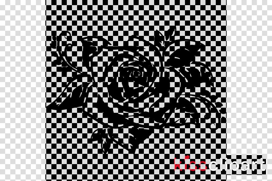 Cross-stitch Pattern Stencil Rose
