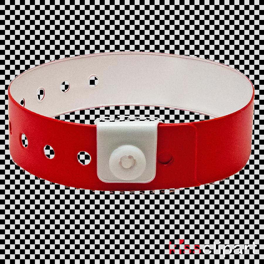 Wristband Bracelet Red Tyvek Color