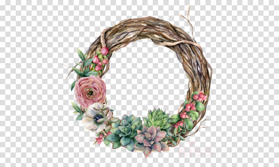 Wreath Royalty-free Stock illustration Watercolor painting
