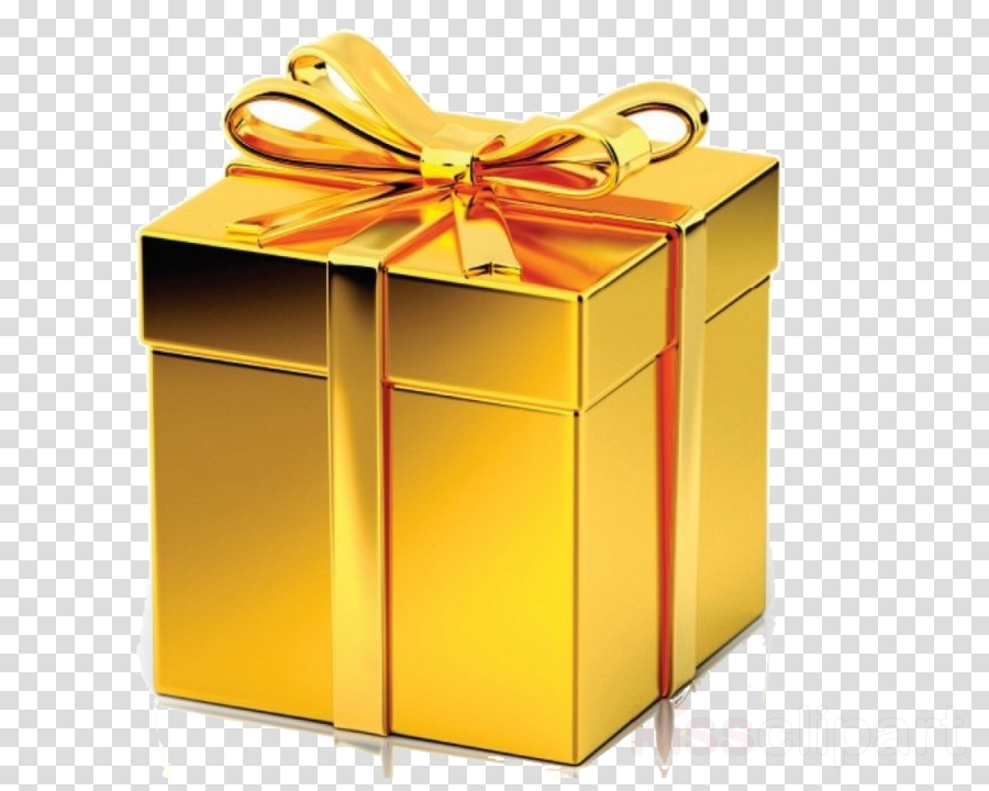 Gift wrapping Gold Gift card Box