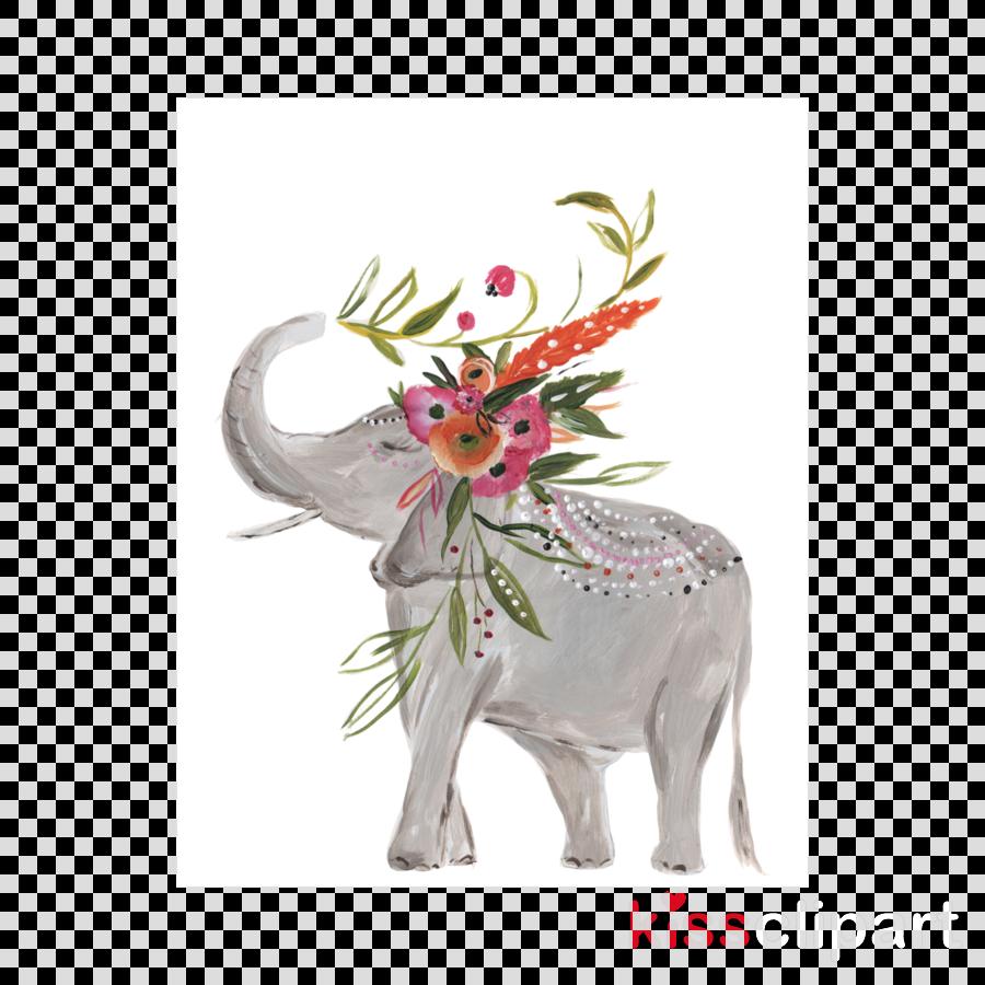 Art Elephant Watercolor painting Bohemianism