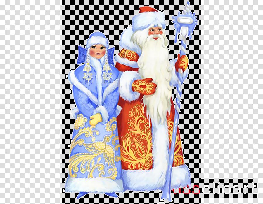 Ded Moroz Snegurochka Santa Claus New Year grandfather
