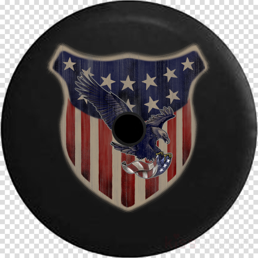 Motor Vehicle Tire Covers T-shirt Flag of the United States