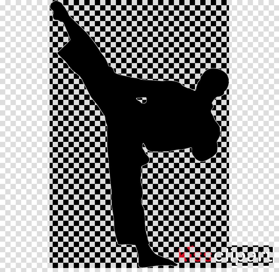 Karate Kick Martial arts Taekwondo Silhouette