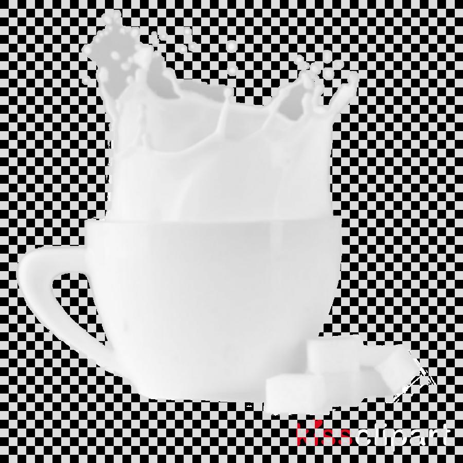 Coffee cup Porcelain Black & White - M Mug Milk