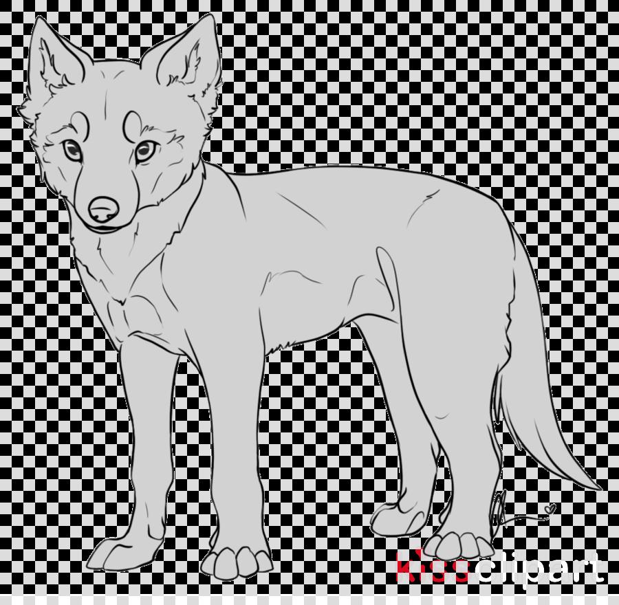 Line art Red fox Dog DeviantArt