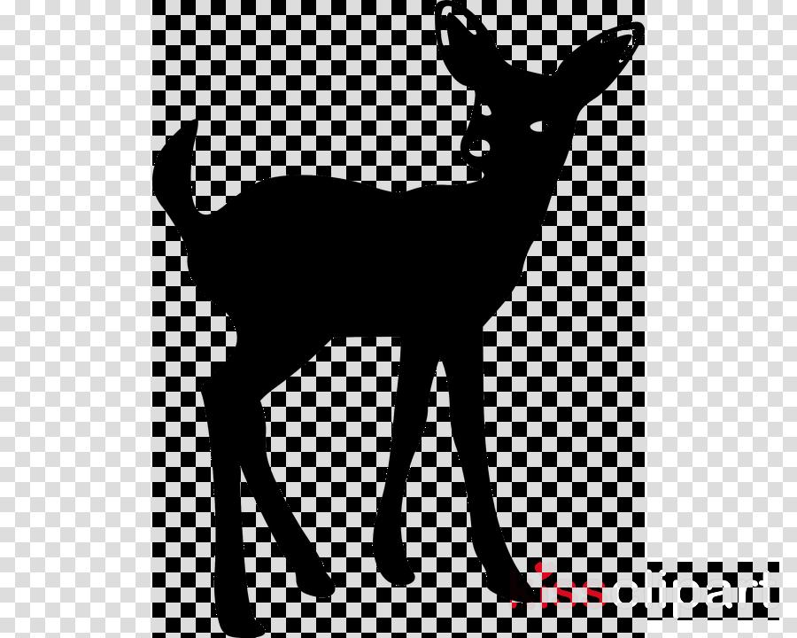 White-tailed deer Clip art Silhouette Stencil