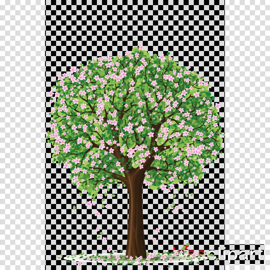 Vector graphics Clip art Tree Spring Blossom