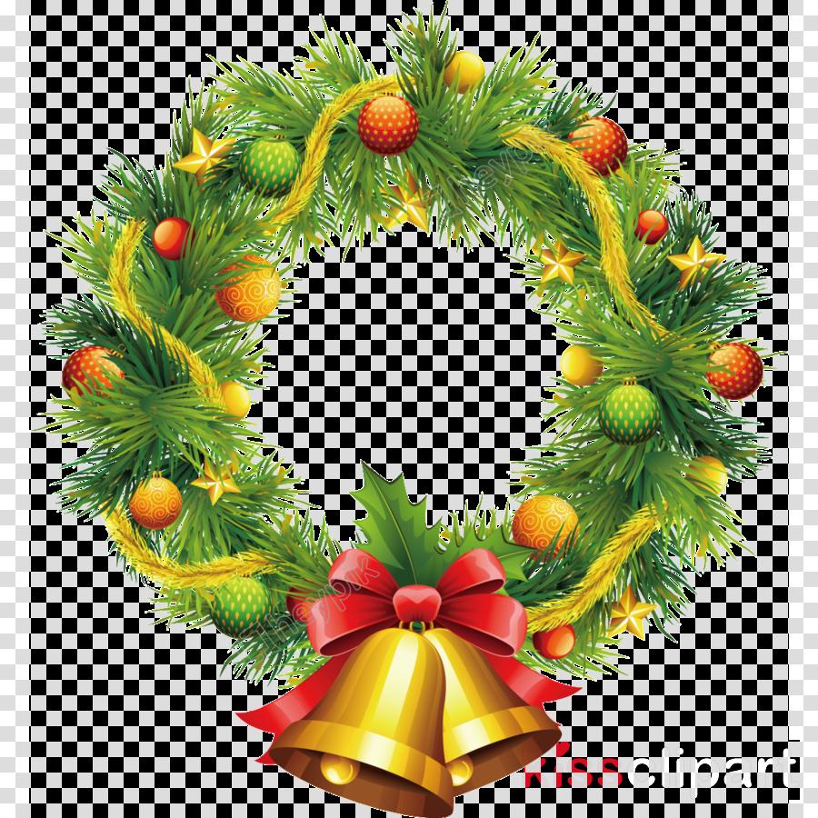 Santa Claus Christmas Day Garland Wreath Portable Network Graphics