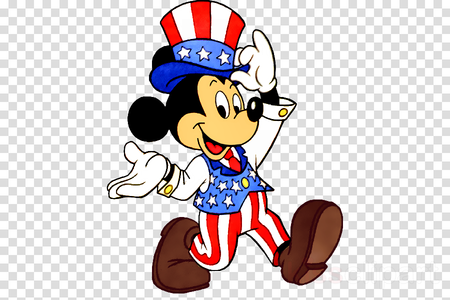 Mickey Mouse Minnie Mouse Independence Day Animation Clip art